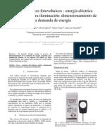 dimensionamiento de la demanda energética del sistema