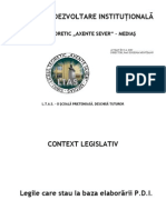 Plan de Dezvoltare Institutional A 2011
