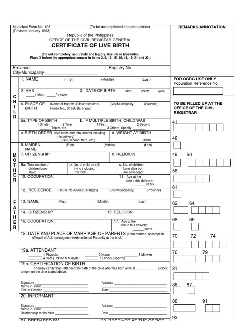 birth certificate affidavit