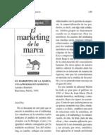 El Marketing de La Marca