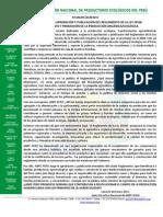 ANPE EXIGE APROBACIÓN REGLAMENTO DE LA LEY 29196 DE FOMENTO PROMOCION AGRICULTURA ORGÁNICA/ECOLÓGICA