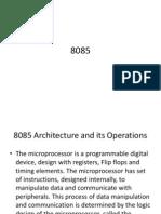 8085 Operation