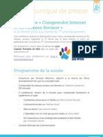 Communiqué de presse - Conférence Comprendre Internet et les réseaux sociaux