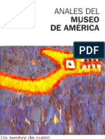 UN TAMBOR DE CUERO PINTADO DEL MUSEO NACIONAL DE ARQUEOLOGIA, ANTROPOLOGIA E HISTORIA DEL PERU