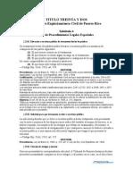 Ley de Procedimientos Legales Especiales - F