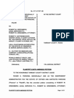 Plaintiff's Sixth Amended Petition in Parsons v. DuPont, ConocoPhillips, Baron & Budd, Windle Turley, Greenberg and Motsenbocker