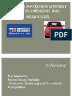 Maruti Suzuki Market Strategy