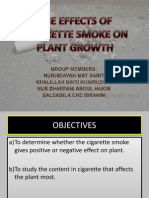 The Effects of Cigarette Smoke on Plant Growth