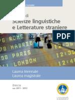 Scienze Linguistic He e Letterature Straniere Brochure Lingue 20112012m