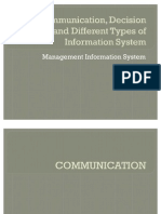 Communication, Decision Making and Different Types Of