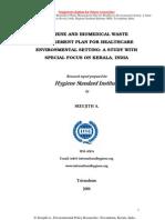 Bio Medical Waste Management & Hygiene in Healthcare Environment