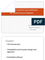 Embedded control and softwarefor Autonomous System