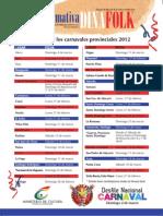 Calendario Carnavales Dominicanos DINAFOLK