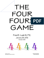 The Four Fours Game