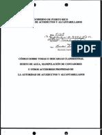 Reglamento 5129 - Código sobre tomas o descargas clandestinas, hurto de agua, manipulación de contadores u otros accesorios propiedad de la AAA