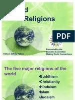 World Religions Powerpoint Noble Eightfold Path Torah - Five major religions