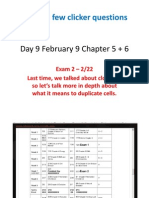 Day 9 February 9 Chapter 5 + 6