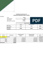 Depreciacion Planta y Equipo