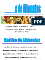 Aula1-Análise de Alimentos