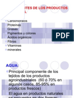 COMPONENTES de Los Productos Agricolas