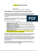 FY 2013-2016 Transportation Improvement Program Project Request Story, Map and List