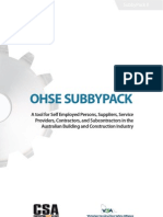 Subbypack Ohse Contractor Mangement Tool 0975