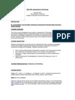 Assessment & Technology - EDCI 200 OL2 - Course Syllabus