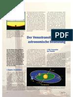 Der Venus Transit Und Seine Astronomie