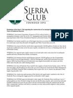 Sierra Club Resolution