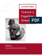 Concept Structuring Systems Toward a Cognitive Semantics Vol 1
