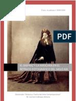 El disfraz y la máscara en el retrato fotográfico del siglo XIX, Carmen Cabrejas