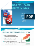Coke - Pepsi Learn to Compete in India - Praveen