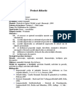 Proiect Didactic Limba Germana Si Evaluare