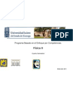 PROGRAMA DE FÍSICA II  enfoque de competencias