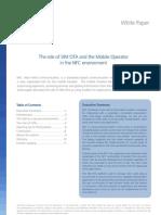SIM OTA Mobile Operator Role NFC