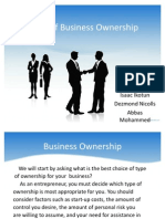 Kinds of Business Ownership 111
