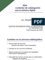 RDA - Nuevo Estándar de Catalogación para el Entorno Digital