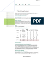 GE Filter Specification
