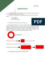 Física - Aula 11 - Hidrostática