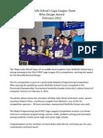 Lego League Team Wins Design Award 2012