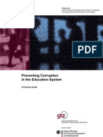 Preventing Corruption in the Education System. a Practical g