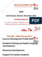 LDU_MBA Plagiarism Slides