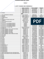 Data Stock Bengkulu 22-1-2012