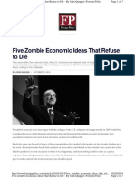 Five Zombie Economic Ideas That Refuse to Die