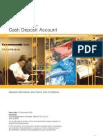 Cash Deposit Account