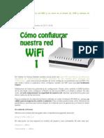 Cómo configurar La Red WiFi
