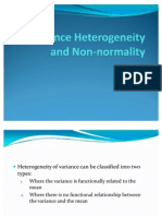 Variance Heterogeneity and Non-Normality