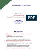 D.A. Humphreys et al- ITER Plasma Control and US Involvement