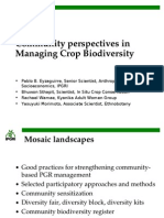 Community Perspectives in Managing Crop Biodiversity