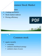 The Common Stock Market Ppt @ Mba Finance